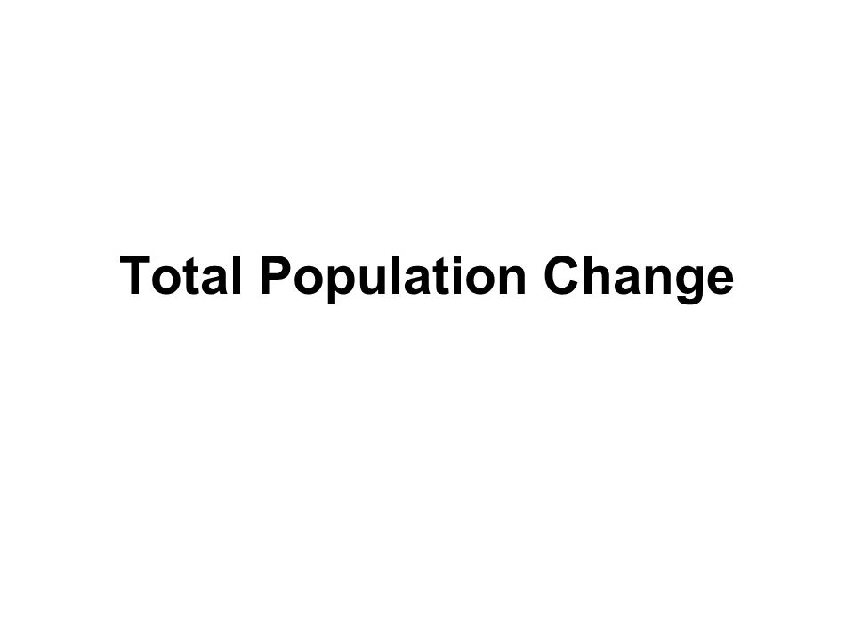 Total Population Change
