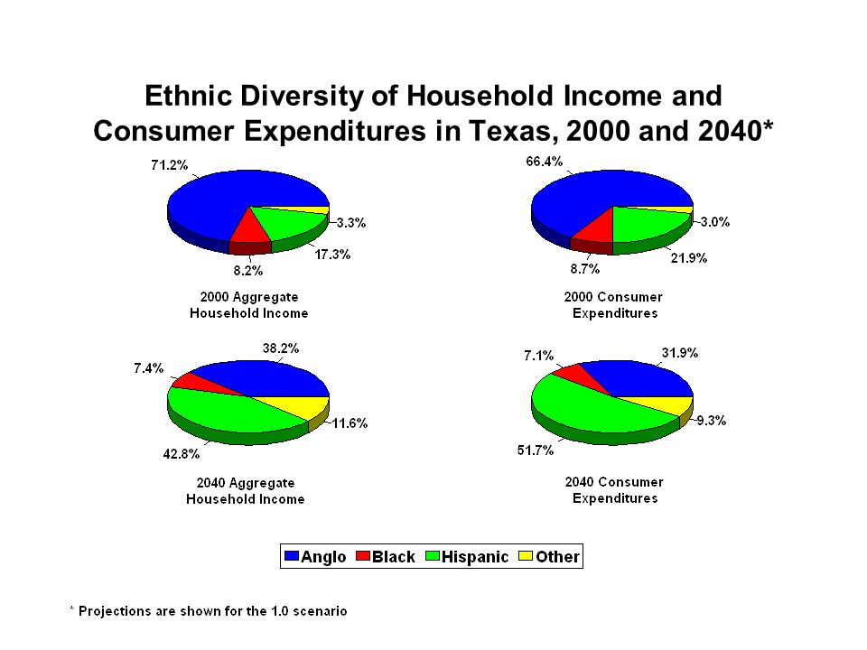 Ethnic Diversity of Household Income and Consumer Expenditures in Texas, 2000 and 2040*
