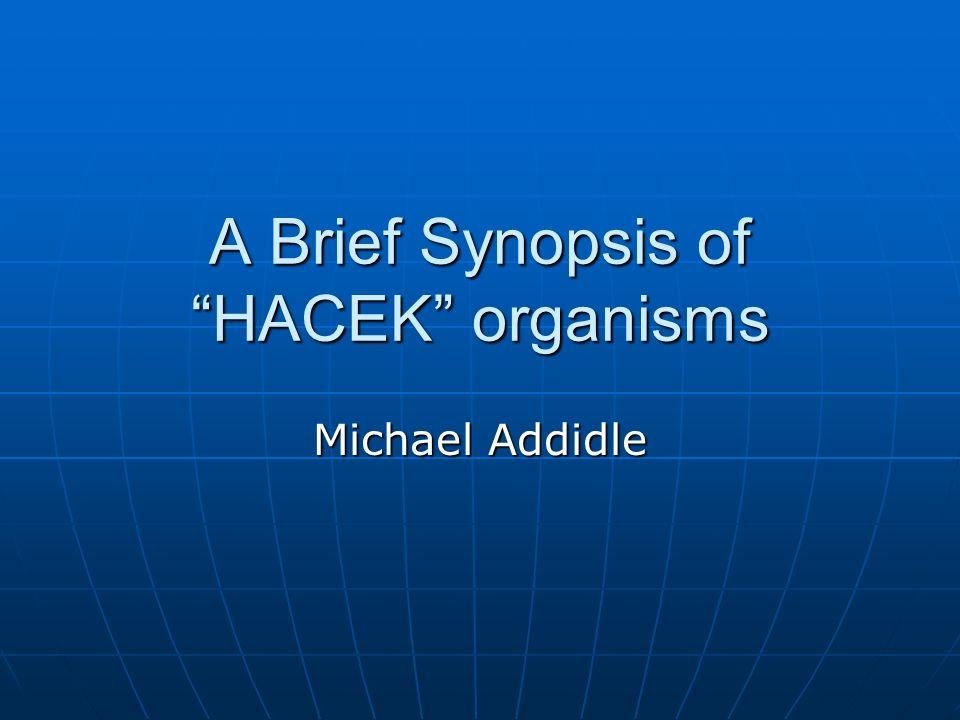 A Brief Synopsis of HACEK organisms