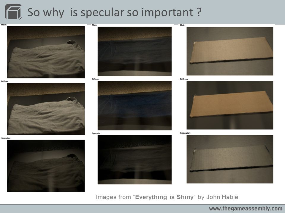 So why is specular so important