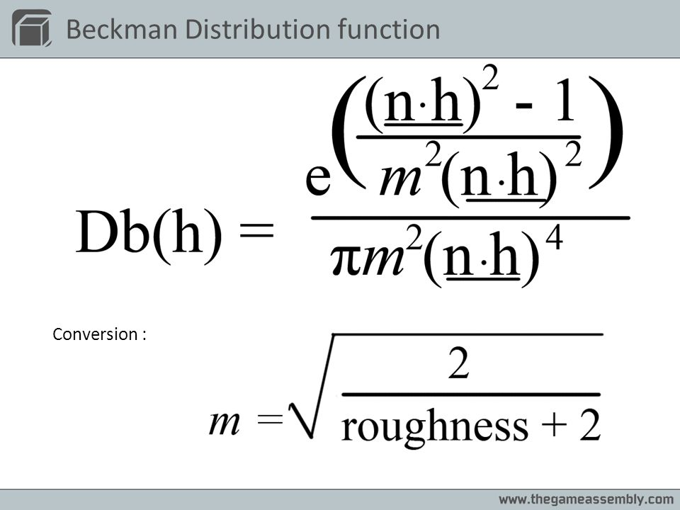 Beckman Distribution function