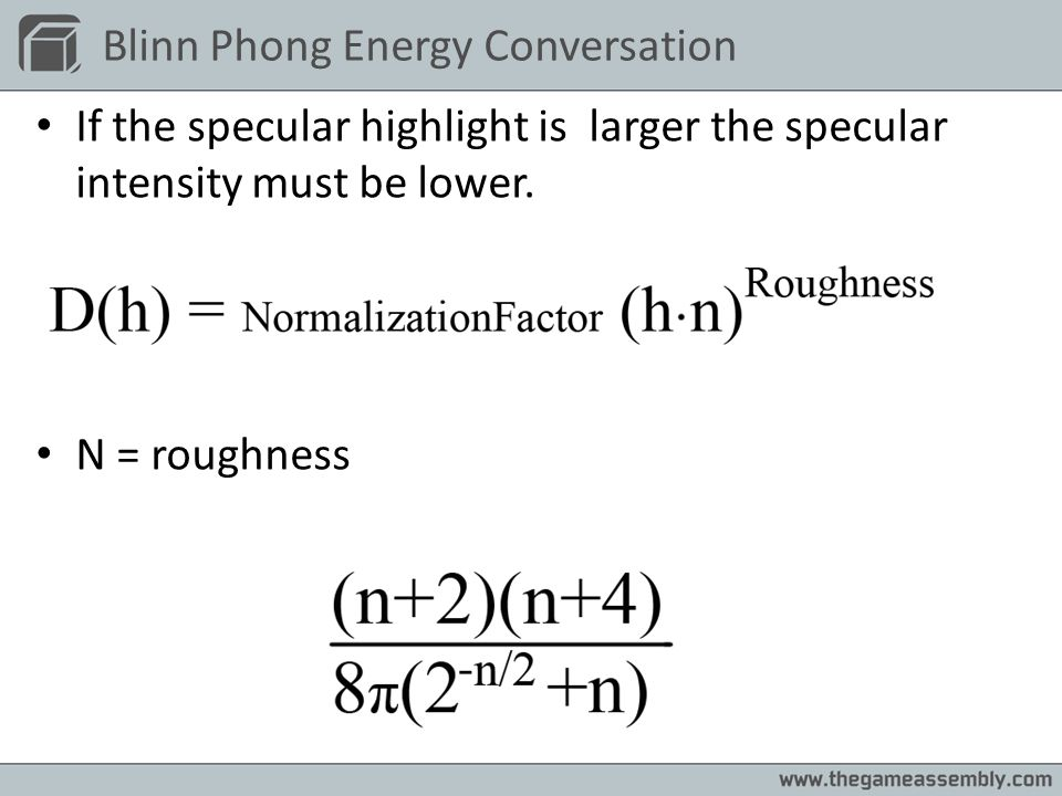 Blinn Phong Energy Conversation