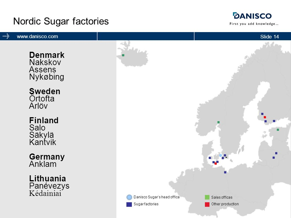 Nordic Sugar factories