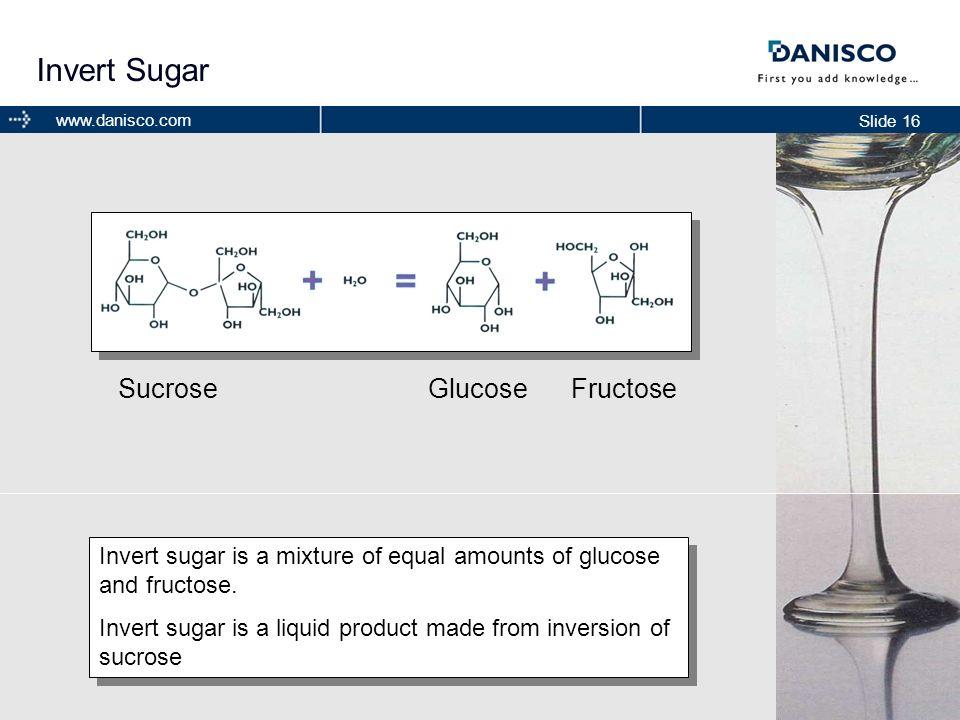 Invert Sugar Sucrose Glucose Fructose