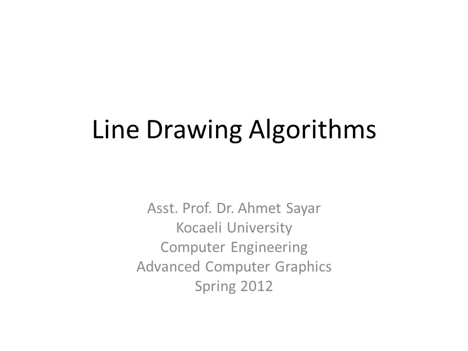 Requirements Of Good Line Drawing Algorithm : Line drawing algorithms ppt video online download