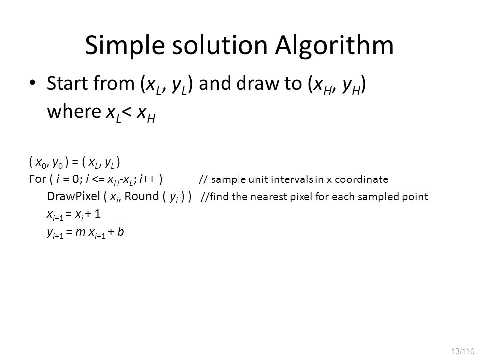 Simple solution Algorithm