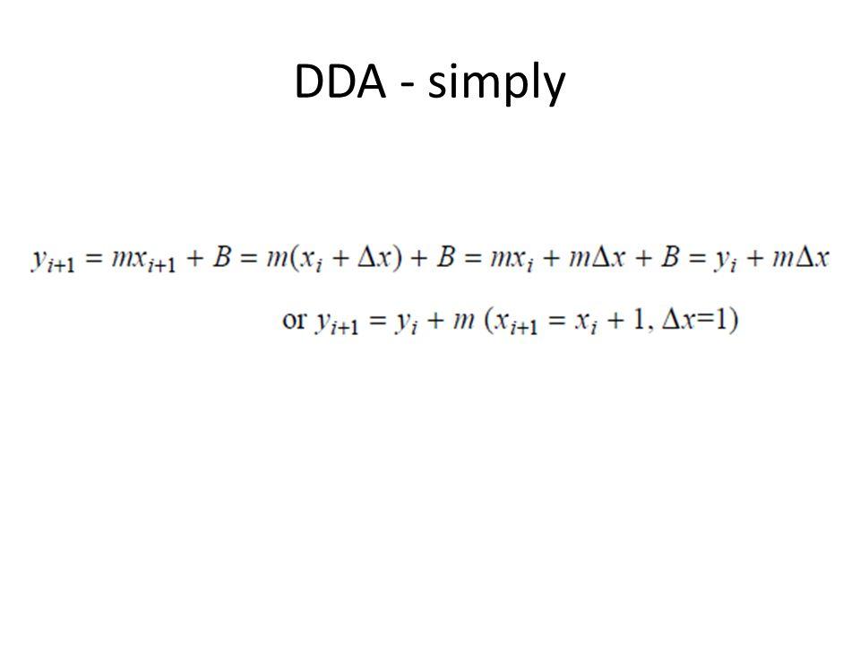 DDA - simply