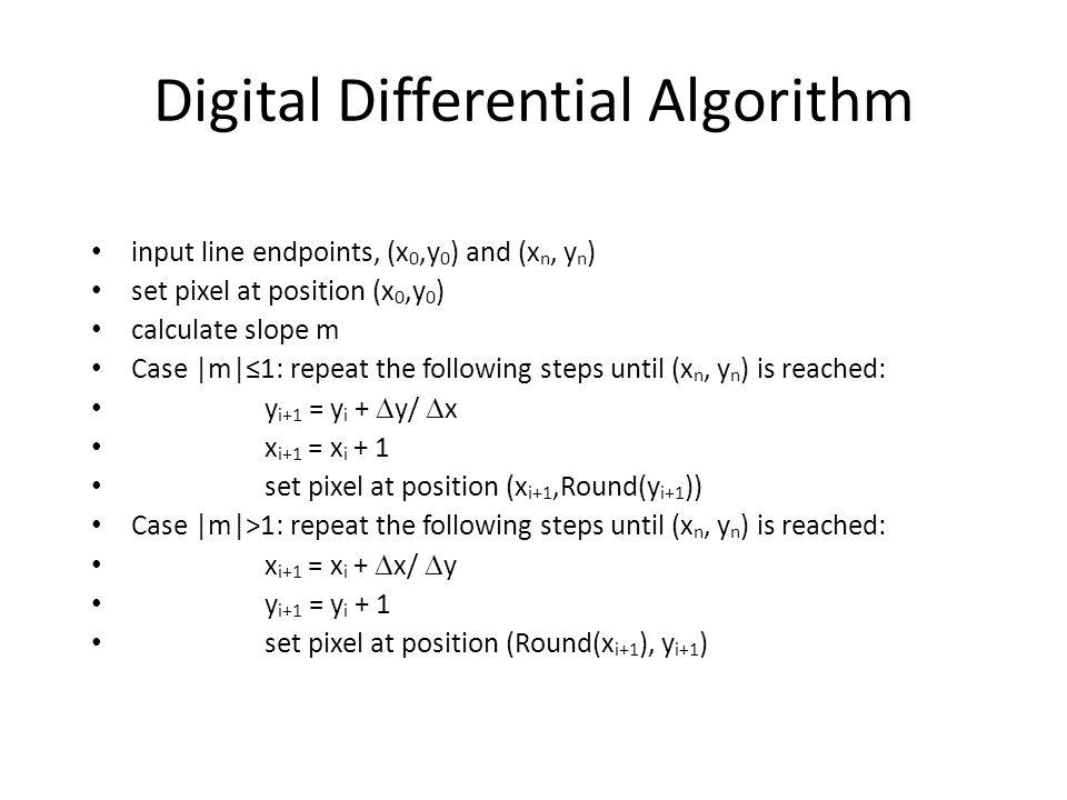 Digital Differential Algorithm