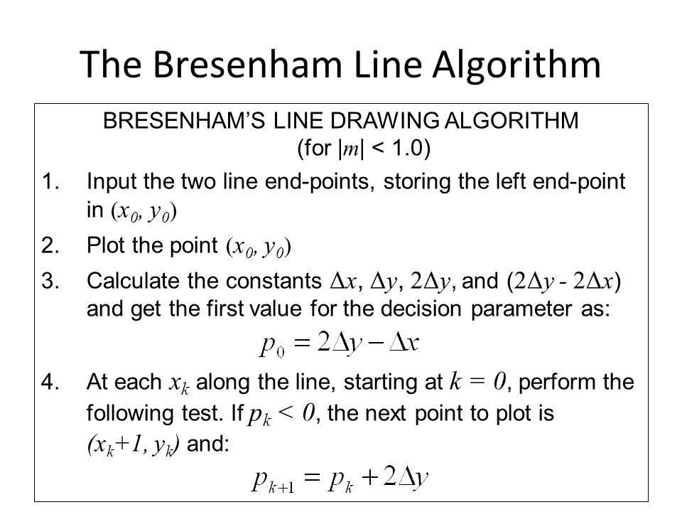 The Bresenham Line Algorithm