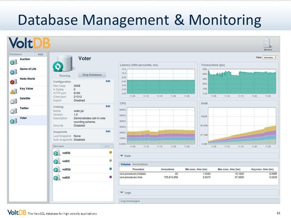 Database Management & Monitoring