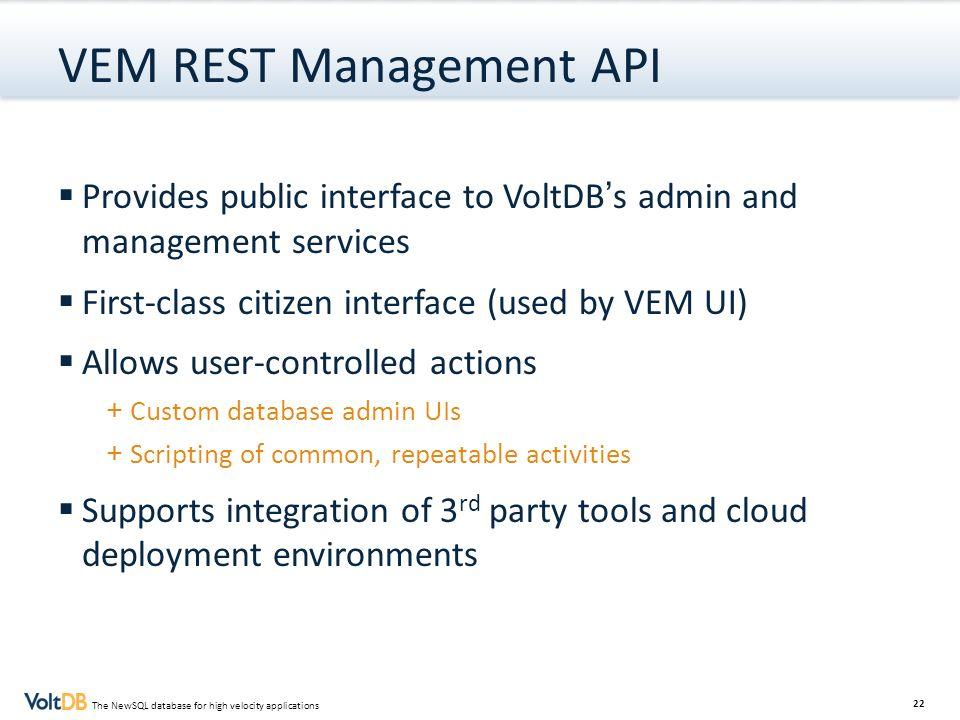 VEM REST Management API