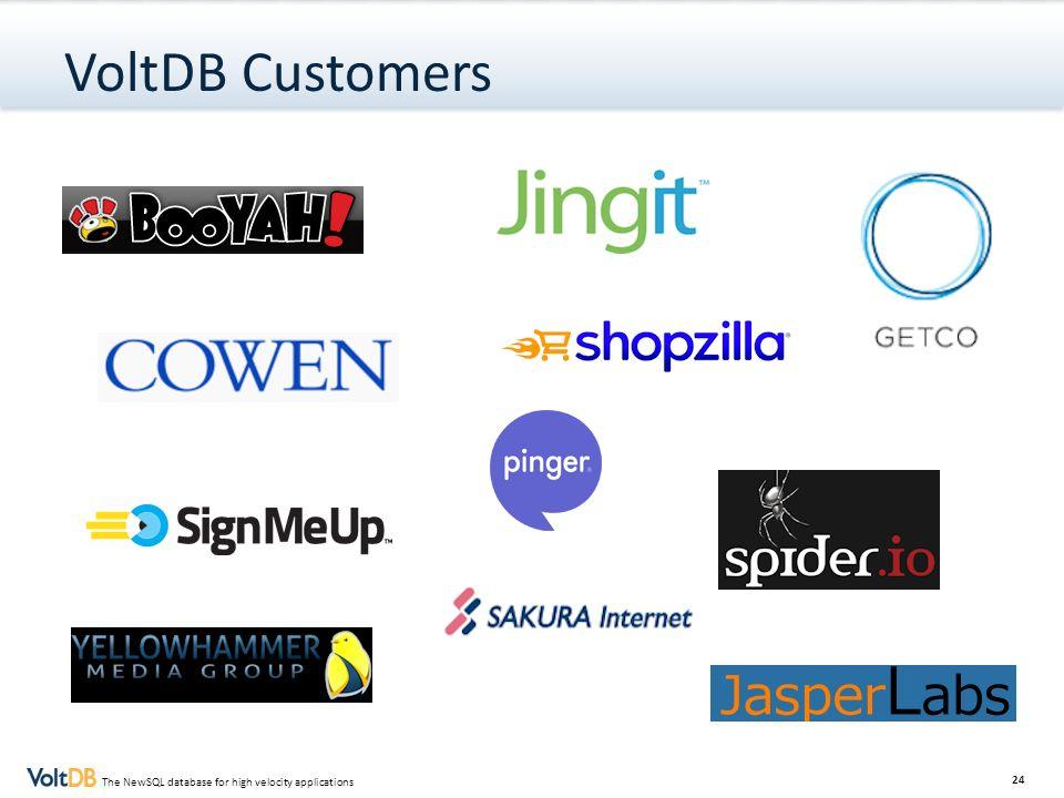 VoltDB Customers