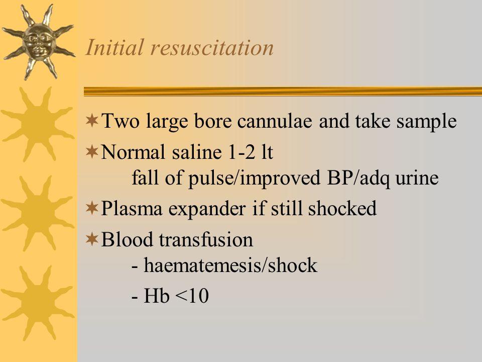 Initial resuscitation