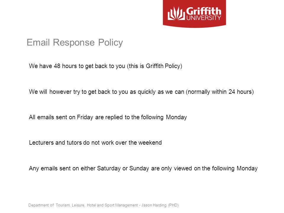 Email Response Policy