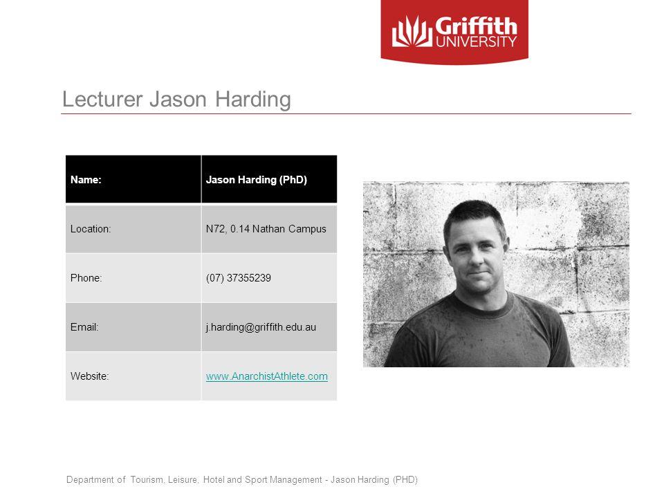 Lecturer Jason Harding