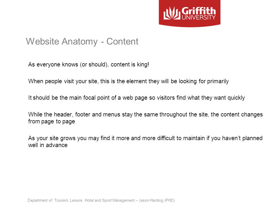 Website Anatomy - Content