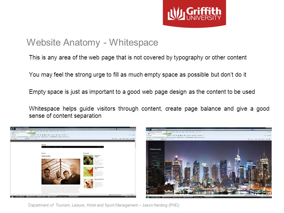 Website Anatomy - Whitespace