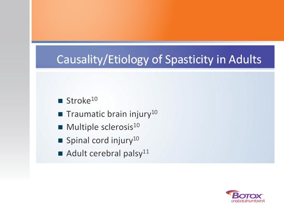 The causes of spasticity are heterogeneous