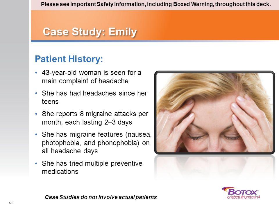 Case Study: Emily Patient History: