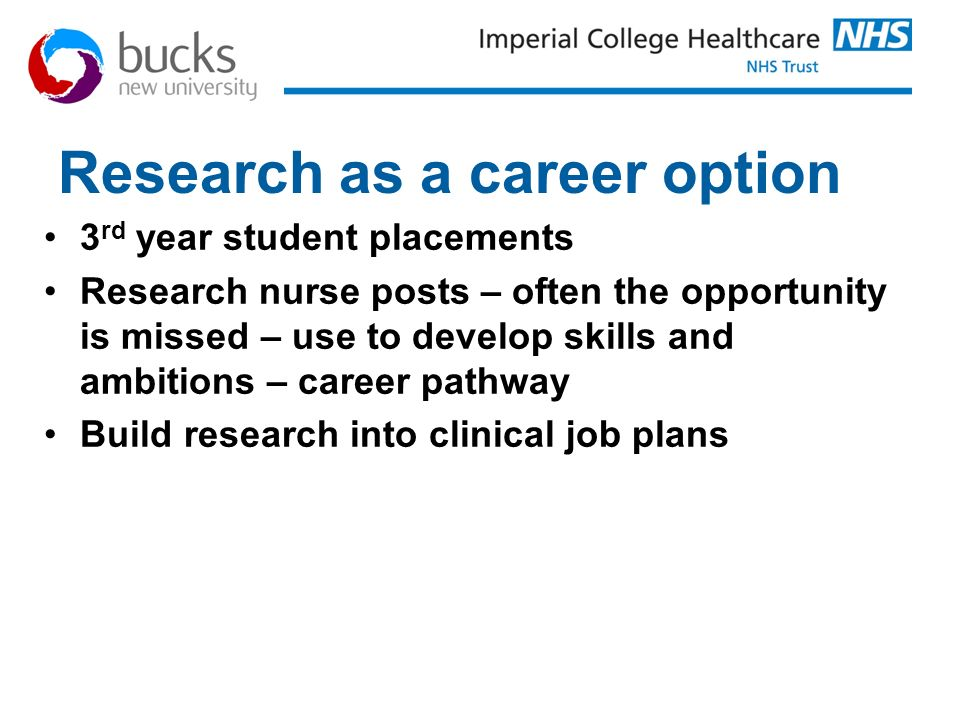 Research as a career option