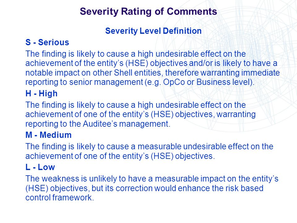 Severity Rating of Comments
