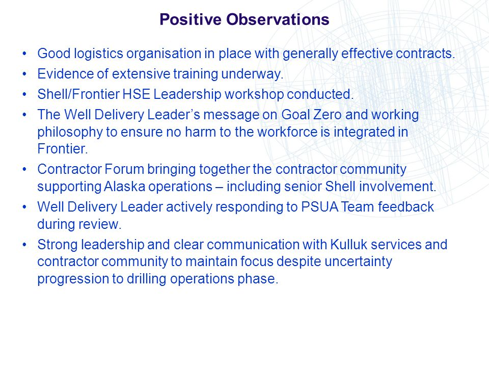 Positive Observations