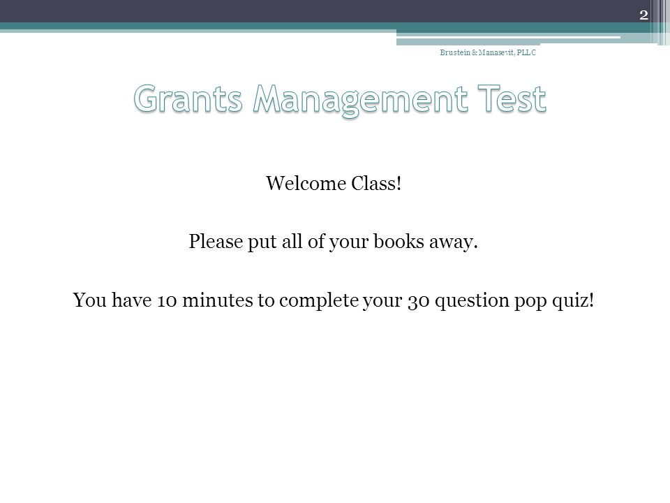 Grants Management Test