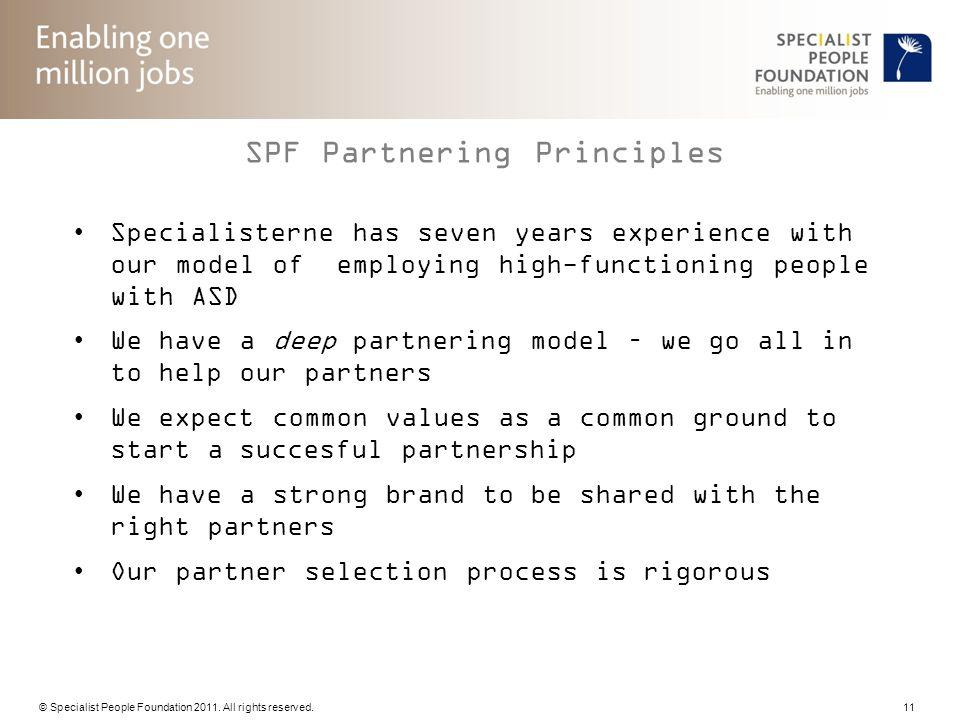 SPF Partnering Principles