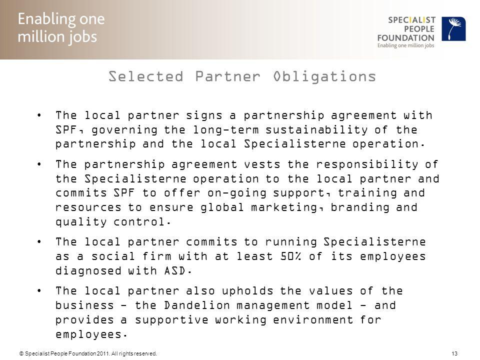 Selected Partner Obligations