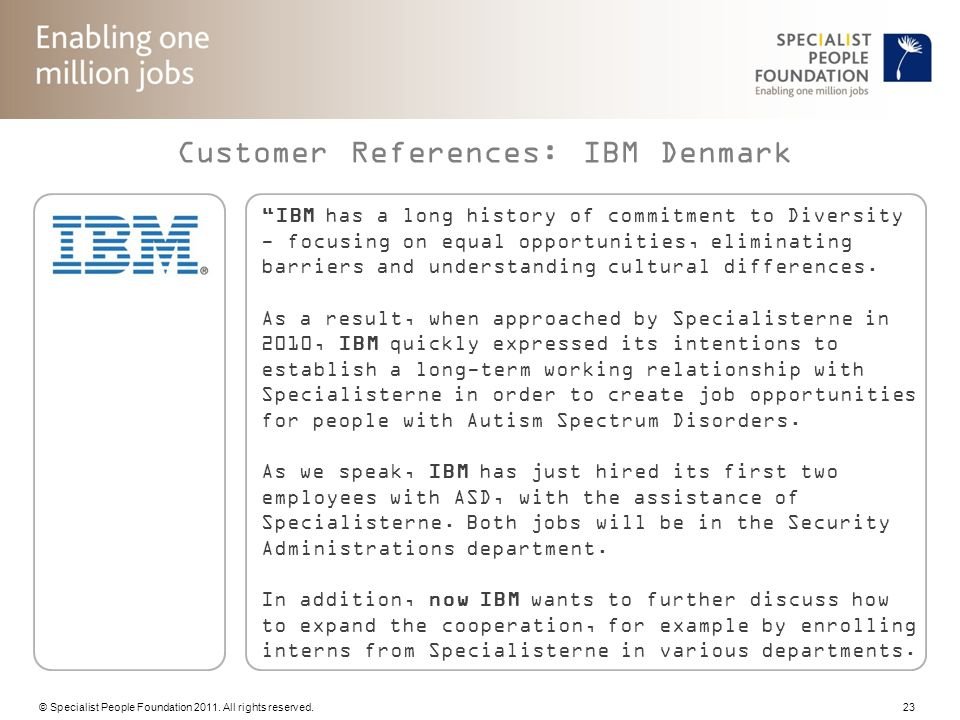 Customer References: IBM Denmark