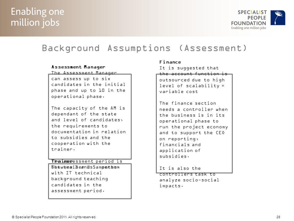 Background Assumptions (Assessment)
