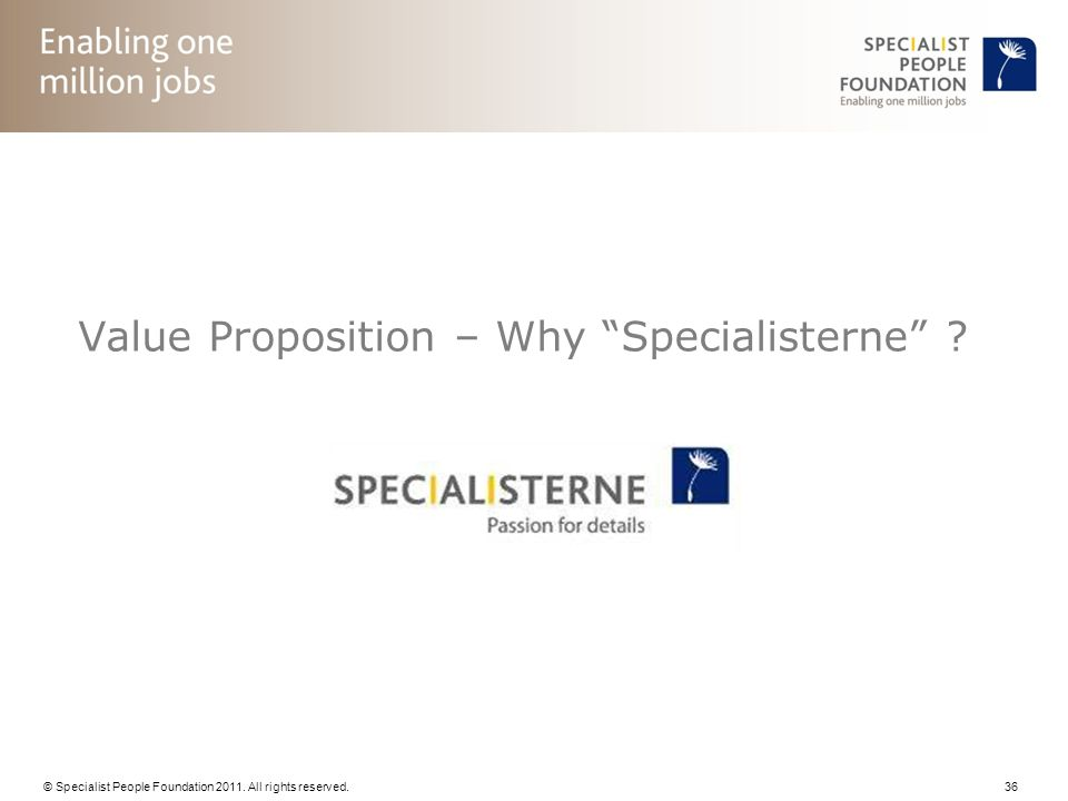 Value Proposition – Why Specialisterne