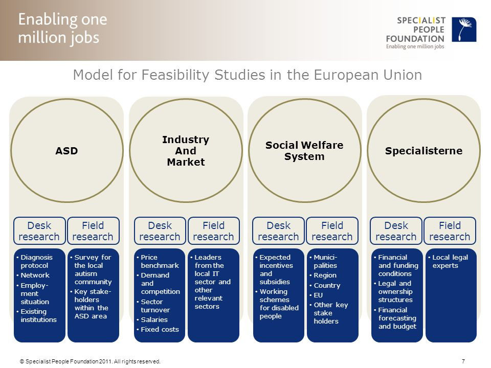 Model for Feasibility Studies in the European Union