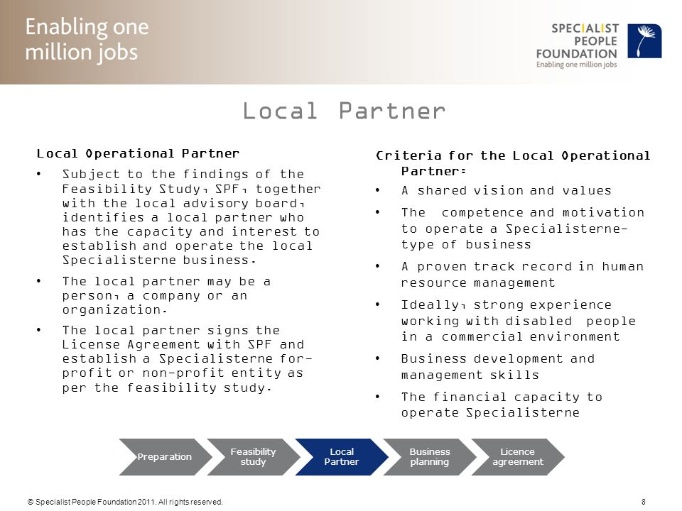 Local Partner Local Operational Partner