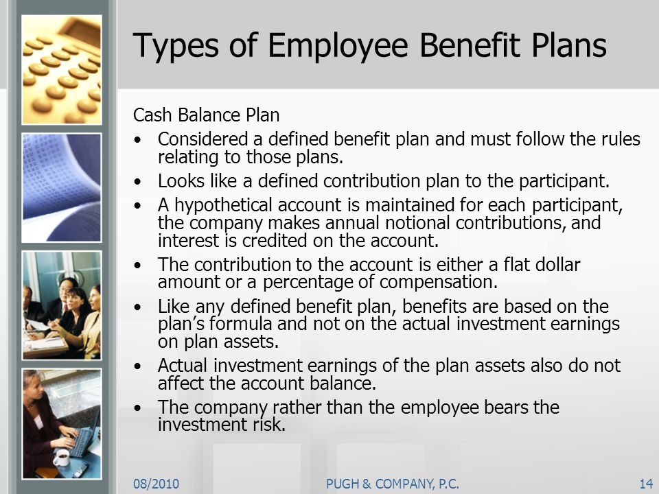 Types of Employee Benefit Plans