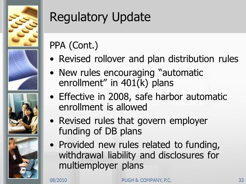 Regulatory Update PPA (Cont.)