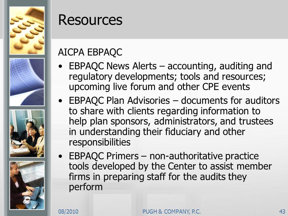 Resources AICPA EBPAQC