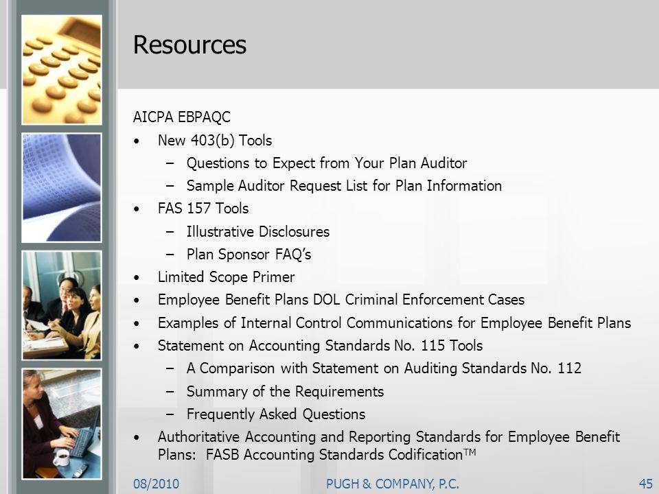 Resources AICPA EBPAQC New 403(b) Tools