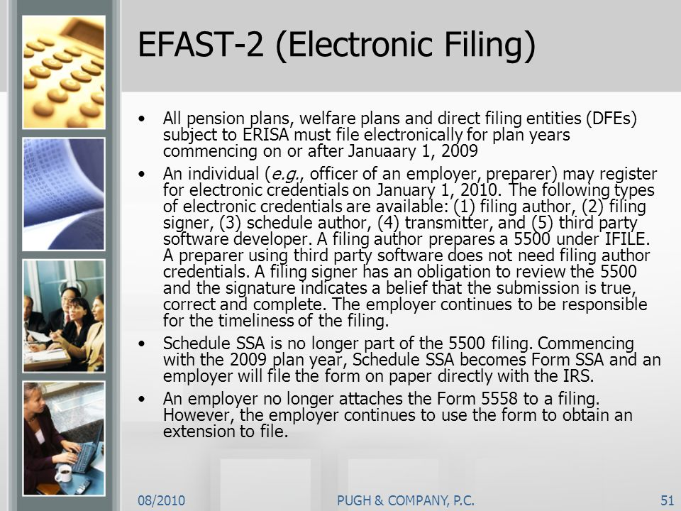 EFAST-2 (Electronic Filing)