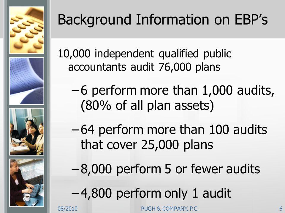 Background Information on EBP's