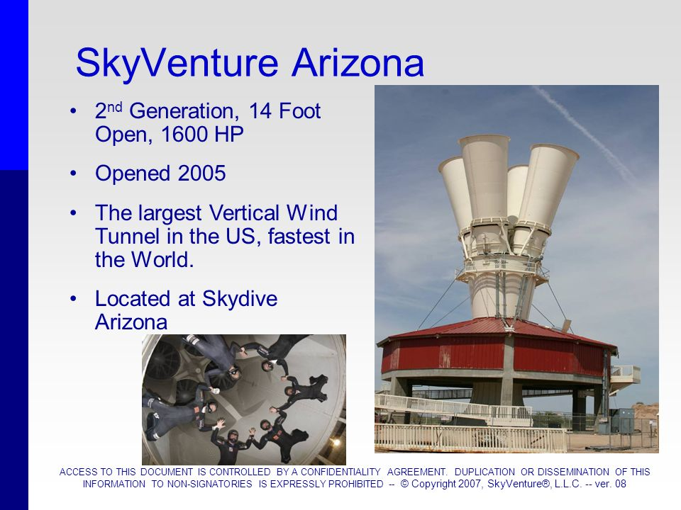 SkyVenture Arizona 2nd Generation, 14 Foot Open, 1600 HP Opened 2005