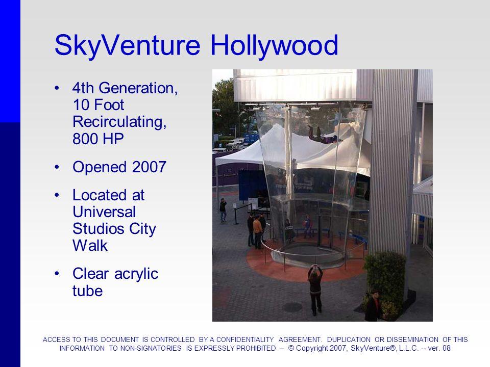SkyVenture Hollywood 4th Generation, 10 Foot Recirculating, 800 HP