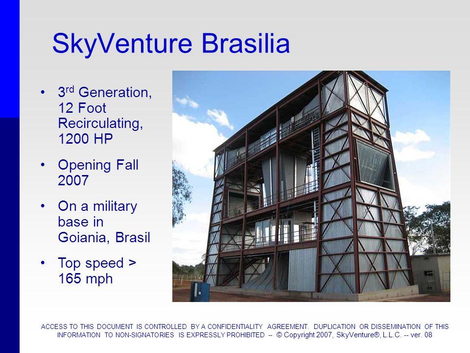 SkyVenture Brasilia 3rd Generation, 12 Foot Recirculating, 1200 HP