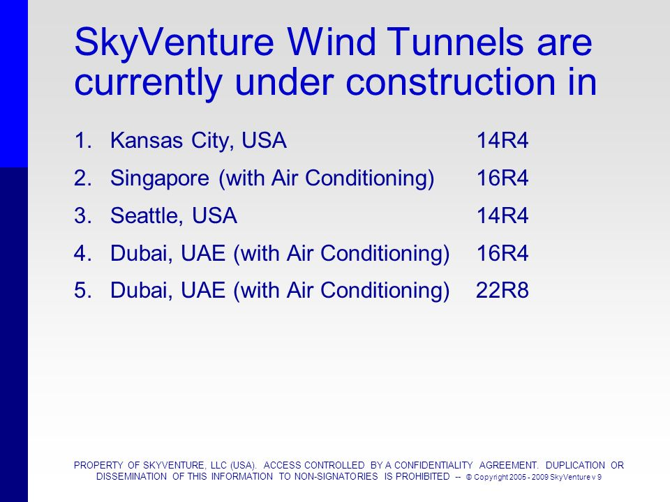 SkyVenture Wind Tunnels are currently under construction in