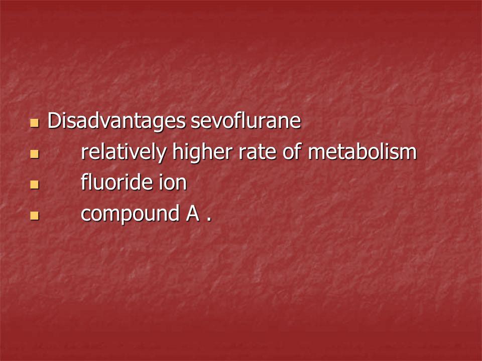 Disadvantages sevoflurane