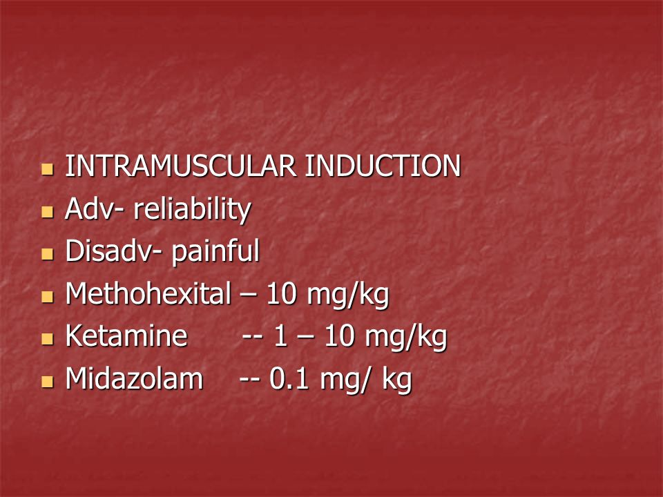 INTRAMUSCULAR INDUCTION