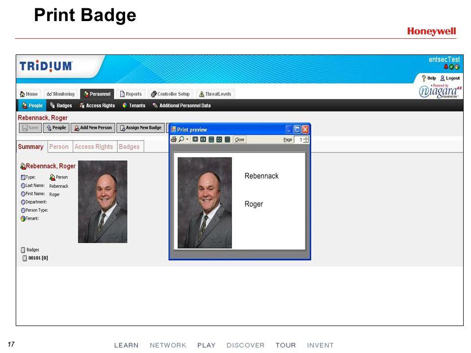 Print Badge