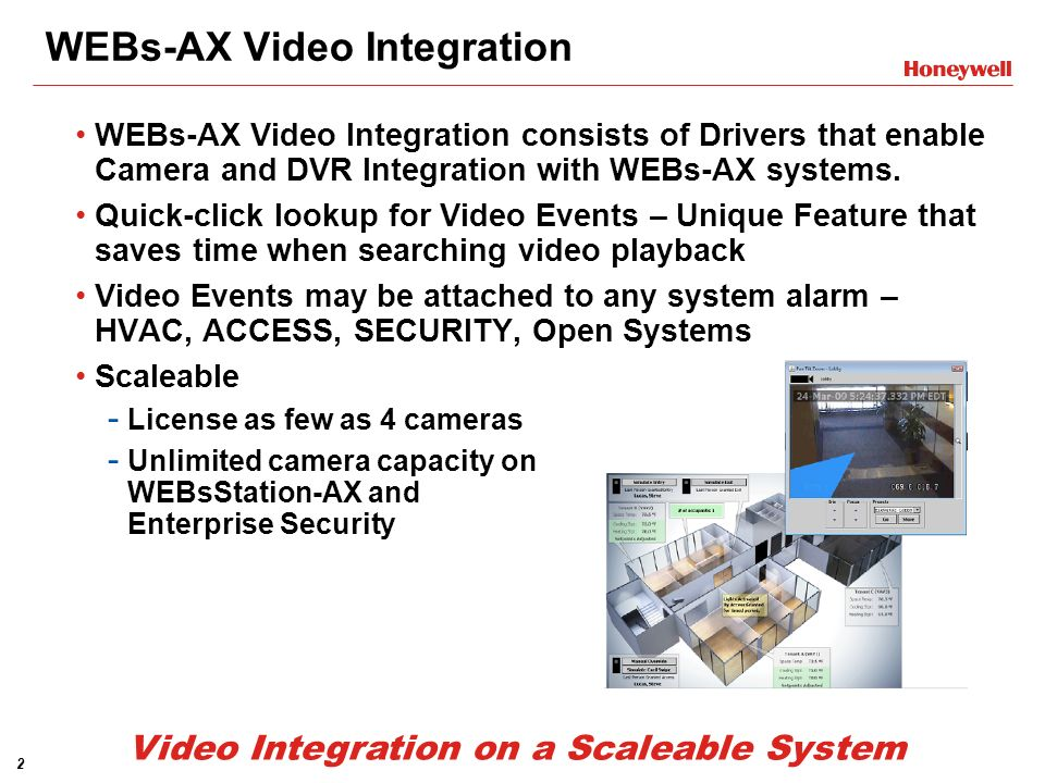 WEBs-AX Video Integration