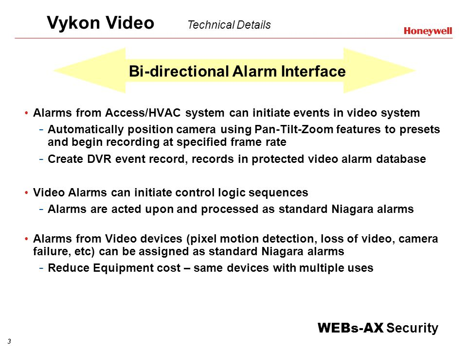Bi-directional Alarm Interface