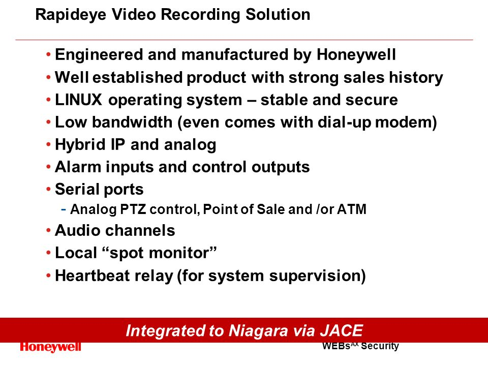 Rapideye Video Recording Solution